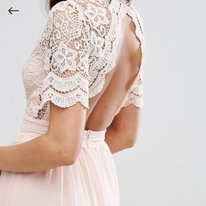 NWT Crochet maxi lace detail